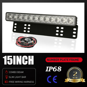 15Inch OSRAM LED Light Bar Spot Flood Work Driving Light Number Plate Slim Pods