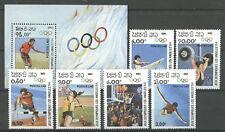 Olympiade 1984, Sport - Laos - 618-623, Bl.92 ** MNH