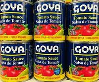 6 Cans Goya Tomato Sauce | Goya Salsa de Tomate ~ FAST FREE SHIPPING ! ~