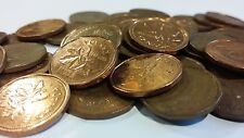 FULL ROLL 1992 CANADA ONE CENT PENNIES CIRCULATED