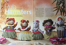 KNITTING PATTERN Alan Dart Hula Hamsters Hawaiian Grass Skirt Drum Toy PATTERN