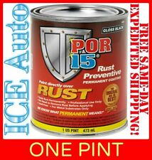 3-DAY SALE!! POR-15 Rust Preventative Paint - SEMI GLOSS BLACK 45408 - 1 Pint