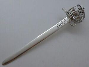 Scottish Basket Hilt Broad Sword Desk Ornament Letter Opener Birmingham 1892