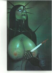 Tarot Witch of the Black Rose 108 SKYCLAD CHROME COVER signed Jim Balent NM 5/25