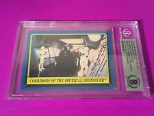 James Earl Jones 1983 Star Wars Return of the Jedi Card Signed Auto Beckett BAS