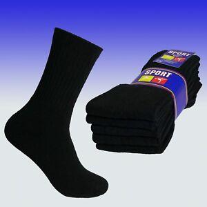 Sportsocken 80 % Baumwolle, schöne schwere Qualität, Vollfrotteefuß, schwarz