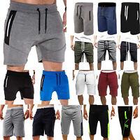 Mens Gym Sports Tracksuit Bottoms Joggers Shorts Pants Sweatpants Half Trousers