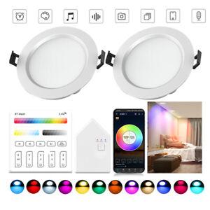 LED Einbaustrahler 5W Bluetooth RGB Leuchten Decken Spot Dimmbar Downlight Lampe