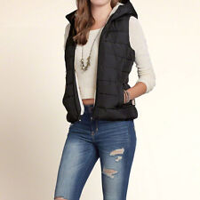Hollister by Abercrombie Point Mugu Sherpa Lined Hooded Vest  Sz XS New NWT