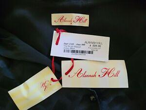 ALANNAH HILL Ladies Black On Black Silk TIE ME UP PLAYSUIT Size 8 BNWT $329