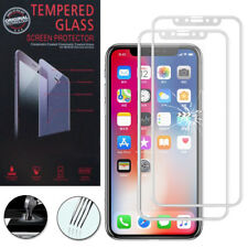 "2x Cristal protector para Apple iPhone x 5.8"" real de pantalla BLANCO"