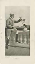 1903 John Drew 6x12 Vintage Printed Photo of Noted Stage Actor at East Hampton