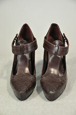 NWOB $760 MARC JACOBS DARK BROWN LEATHER HIGH HEEL SHOES SIZE 41 (11 US)