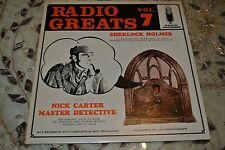 SHERLOCK HOLMES / NICK CARTER LP Radio Greats Volume 7 RG-107 NM/Good Condition