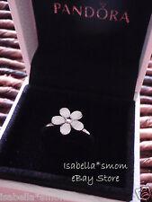 DARLING DAISY Authentic PANDORA White ENAMEL Flower RING 4.5/48 190899EN12 w BOX