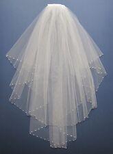 Wedding / Bridal Veil White made with Swarovski Crystal Diamante