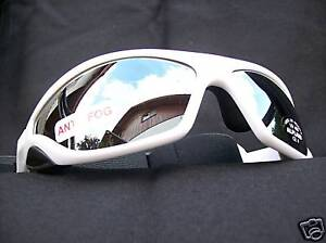 Ravs Cycling Glasses Triathlon Sport Goggles Alpine White with Band And Strap