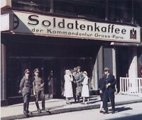 WWII Color Photo Soldatenkaffee Paris WW2 World War Two France Germany Wehrmacht