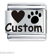 JSC Custom Italian Charm Personalised HEART & PAW PRINT