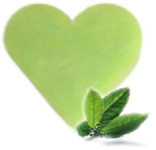 """"""""""" SPECIAL OFFER """"""""   3 x Green Tea Heart Shaped Guest Soaps - FREE P+P"""