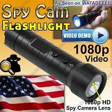 1080p Water Resistant Flashlight Spy Camera Genuine Covert Surveillance Cia Fbi