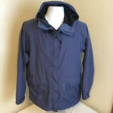 Vtg LL L.L. Bean Womens Gortex Jacket Windbreaker Full Zip w/ Hood Blue Small FS
