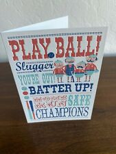 Slugger Baseball Birthday Card