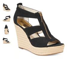 Michael Kors Damita Wedge Black Womens Shoes Size 9 M HEELS