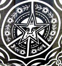 SHEPARD FAIREY (aka OBEY) 'Ornate' Artist's Scarf, Black, 48 x 48 in. **NEW**