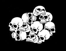 high detail airbrush stencil white skull pile  FREE UK POSTAGE