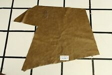 Glossy Dark Tan Scrap Leather Hide w/Crackle Finish Approx. 4.75 sqft. T4S14-7
