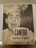1934 Standard Brands Cantor Makes Coffee, Chase & Sanborns Advertisement Poster