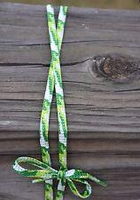 "Light/Dark Green, & White Camoflauge camo Shoe Laces 45"" 7 pairs of eyelets"