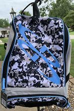 Boombah Baseball Softball Bat Bag Backpack Hook, Light Blue & Camo NEW w/Tags