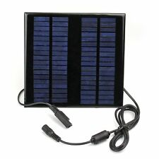 18V 2W Portable Solar Panel Charger Battery Power Bank for Laptop Car Truck Boat