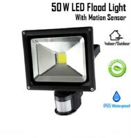50W Cool White LED Floodlight Motion Sensor Outdoor Security Flood Light IP65