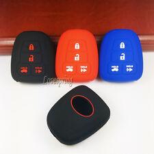 Rubber Key Fob Remote Cover Case Holder For TOYOTA Camry Avalon Corolla RAV4 4B