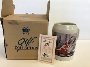 Michael Jordan Avon Tankard mug Chicago Bulls 23 w box coffee cup NBA Upper Deck