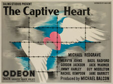 Original The Captive Heart, UK Quad, Film/Movie Poster 1946, Linen