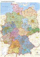 Politische Verwaltungskarte von Deutschland, Poster gerollt, Wandkarte, A0, 2017