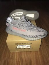 93754b31 Adidas Yeezy Boost 350 V2 Beluga 2.0 AH2203 Grey Orange Men Size 12.5 US
