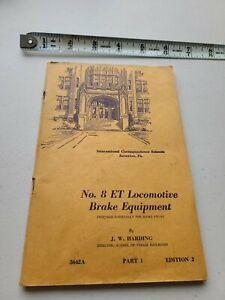 No 8 ET Locomotive Brake Equipment by JW Harding 1946