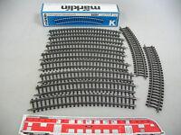 AI195-0,5# 10x Märklin/Marklin H0 2221 Gleisstück (K-Gleis, gebogen), NEUW+OVP