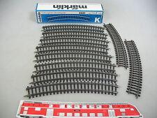 ai195-0,5 #10x Märklin / Marklin H0 2221 piezas de vía ( PISTA K,CURVO ),NUEVO +