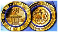 Sammlermünze 20 Jahre Euro 2018 Polierte Platte, Farbauflage, limitiert