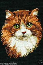 """Riolis Counted Cross Stitch Kit 8"""" x 12"""" ~ RED CAT #765 Sale"""
