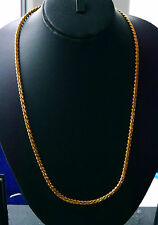 Real looking 22k  ct gold plated set - Indian Chain  23 inches  Hc9 necklace