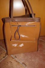 Handtasche Tasche Henkeltasche Damen Marni for H&M braun cognac Lack retro neu
