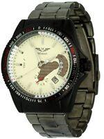 Minoir Uhren Modell Tonnere schwarz/creme Automatikuhr Herrenuhr