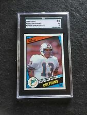 1984 Topps Dan Marino Rookie #123 Wrong Back SGC 60 Card Is Near Mint